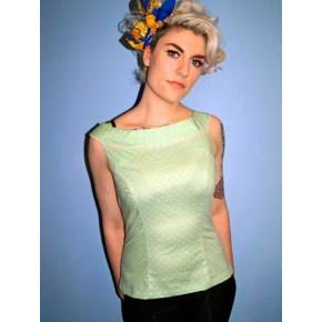 Emmy - Mint Green Boatneck Top