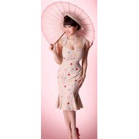 Bettie Page - Beige Connection Dress