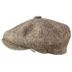 Beige Tweed - Baker Boy Cap