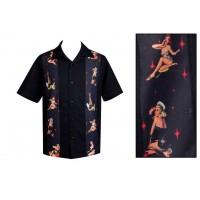 Steady Clothing - Black Multi pinup Shirt