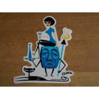 Shag - Tiki Fridge Girl Sticker