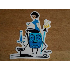 Shag - Tiki Fridge Girl Sticker