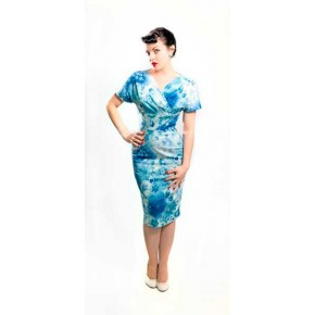 Monica Blue Hawaiian Dress