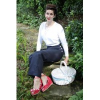 Navy Blue Swing Trousers