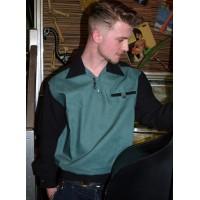 Classic Black/Green Goucho Shirt