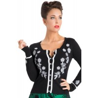 Cardigan - Black Cherry Blossom