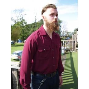 Long Sleeved Claret Shirt