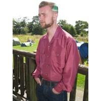 Long Sleeved Pink Gab Shirt