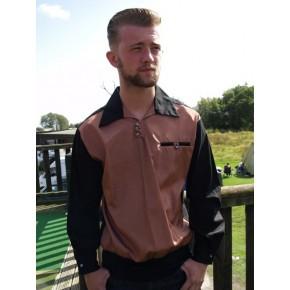 Copper Silk Goucho Shirt
