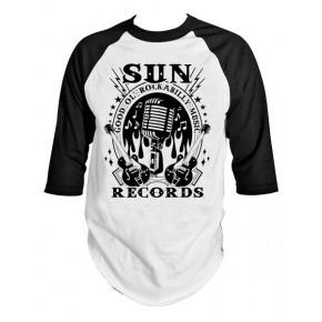Sun Records - Rock N Roll Mic Raglan Tee