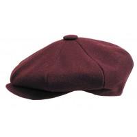Broner - Wool Burgundy Baker Boy Cap