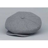 Broner - Light Grey Wool Baker Boy Cap