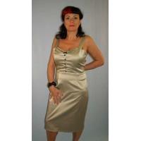 Steady Clothing - Celery Satin Dress