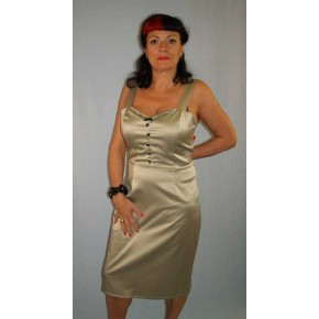 Steady Clothing - Celery Satin Dress