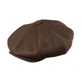 Broner - Baker Boy Cap Brown Wool