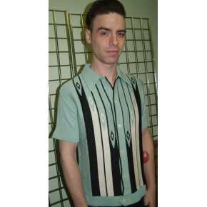 Classic Mint Green Diamond Knitted Shirt