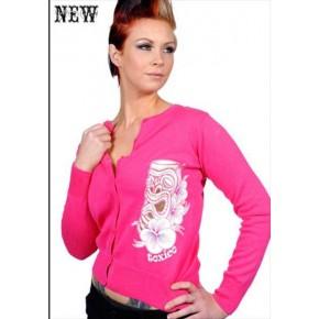 Toxico - Pink Tiki Cardigan