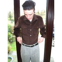 Brown Corduroy Long sleeved Shirt