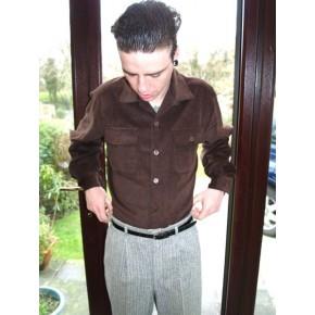 Brown Corduroy Long sleeved Shirt