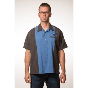 Steady Clothing - Blue Split Crown Panel Shirt