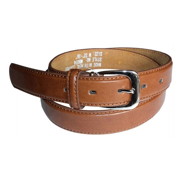 brown thin leather belt