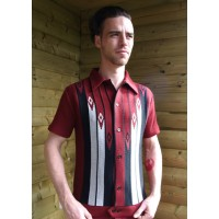Claret Diamond Knitted Shirt