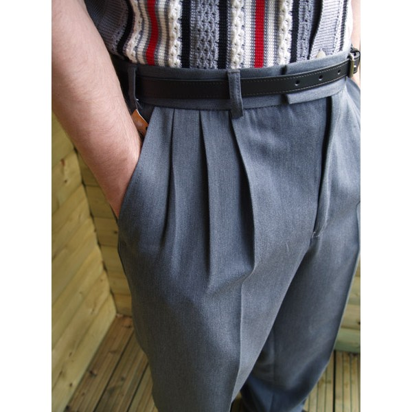 Triple Pleated Mens Pants Pant So