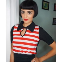 Tarantula - Peter Pan Top Red/white Stripe