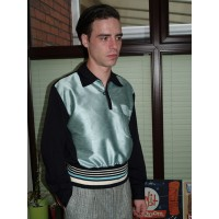 Classic Goucho Shirt - Mint/Black