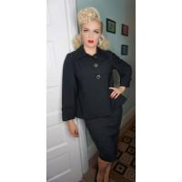 Classic Tarantula - Girls Trapeze Black 1940s Jacket