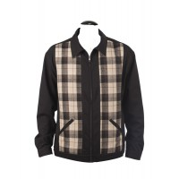 Steady Clothing - Plaid Panel Jacket