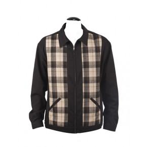 Steady Clothing - Plaid Panel Jacket