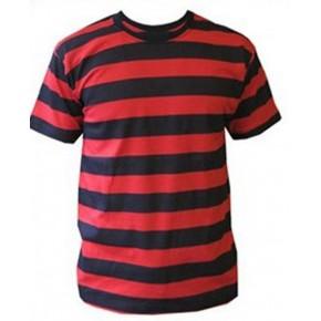 Girls Black/Red Striped T-Shirt