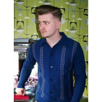 Long Sleeve Blue Knitted Shirt