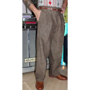 Brown fleck High Waisted Trousers