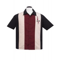 Eames Black/Claret Bowling Shirt