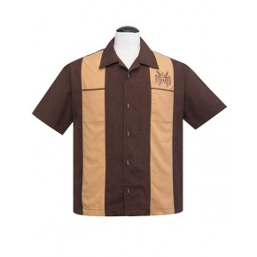 Volcano Bowl Brown Bowling Shirt
