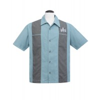 Volcano Bowl Blue Bowling shirt