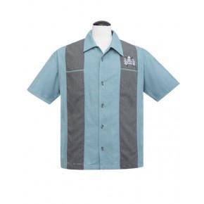 Volcano Bowl Blue Bowling shirt