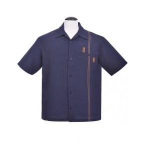 Blue Retro Tiki Stitch Shirt