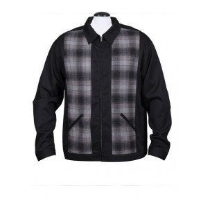 Steady - Black/Flannel Plaid Jacket