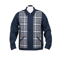 Steady - Navy Blue/Flannel Plaid Jacket