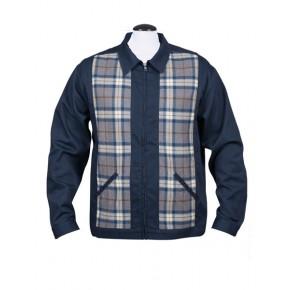 Steady - Navy Blue/Flannel Plaid Jacket