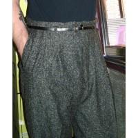 Charcoal Fleck High Waisted Trousers