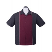 Steady - Diamond Stitch Claret Shirt