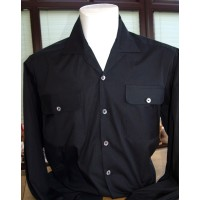 Black Long Sleeve Gab Shirt
