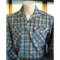 Blue Plaid Long Sleeve Gab Shirt
