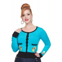 Blue Oriental Cat Cardigan