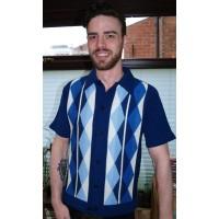 New Blue Argyll Knitted Shirt
