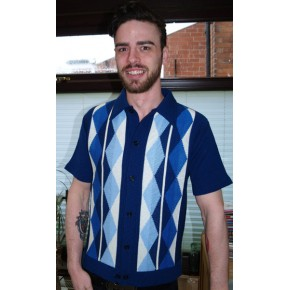 New Blue Argyll Knitted Shirt